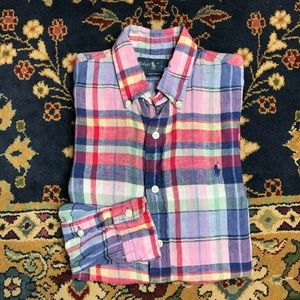 Polo by Ralph Lauren Button Down in Madras Linen